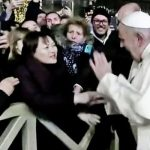 Pope Francis loses his temper and slaps woman who grabs him after his New Years message